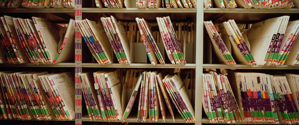 PHOTO:Medical files are seen on the shelves in this undated file photo.