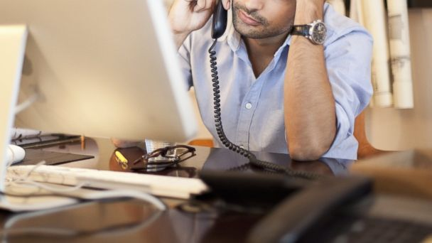 PHOTO: A man is pictured at a desk in this stock photo.
