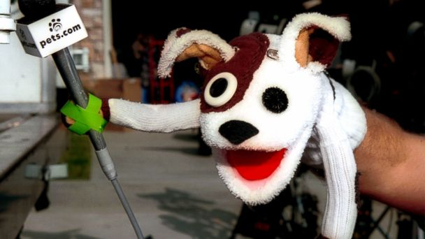PHOTO: The pets.com sock puppet dog stars in a commercial for the company in Los Angeles, Jan. 11, 2000.