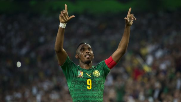 PHOTO: Cameroons captain Samuel Etoo