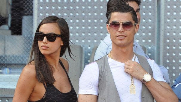 PHOTO: Irina Shayk and Cristiano Ronaldo attend the Mutua Madrid Open tennis tournament at La Caja Magica in this May 12, 2013, file photo in Madrid, Spain.