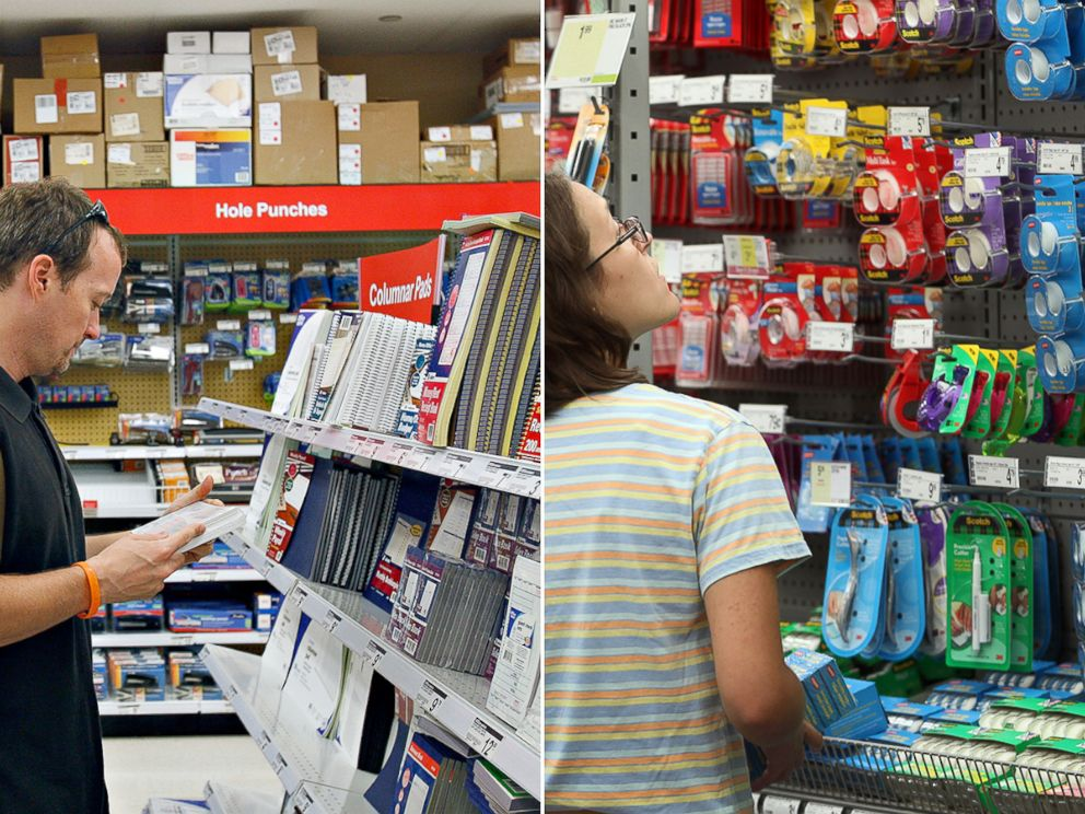Delicieux PHOTO: Customers Shop For Office Supplies In An Office Depot, Left, And A