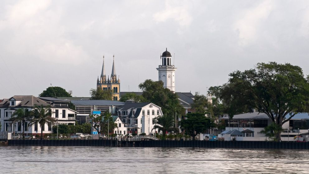 View of Paramaribo in Suriname, South America