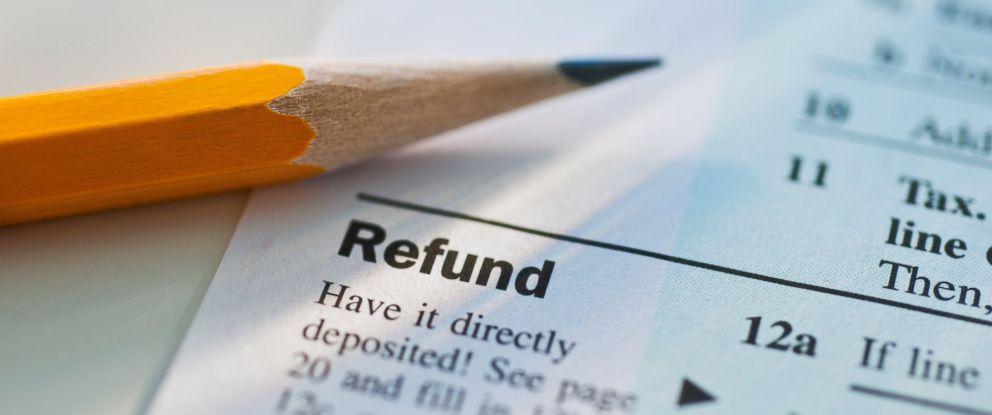 PHOTO: Tax return form.