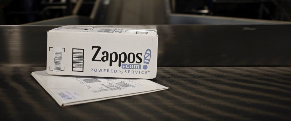PHOTO: A package from Zappos.com moves down a conveyor belt during the afternoon sort at the United Parcel Service Inc. (UPS) Worldport facility in Louisville, Ky., April 21, 2015.