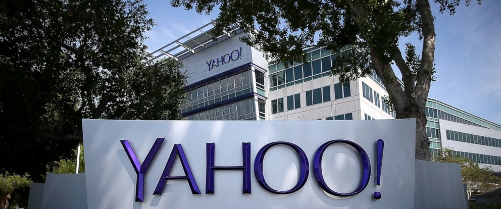 PHOTO: A sign is posted in front of the Yahoo! headquarters, May 23, 2014 in Sunnyvale, California.