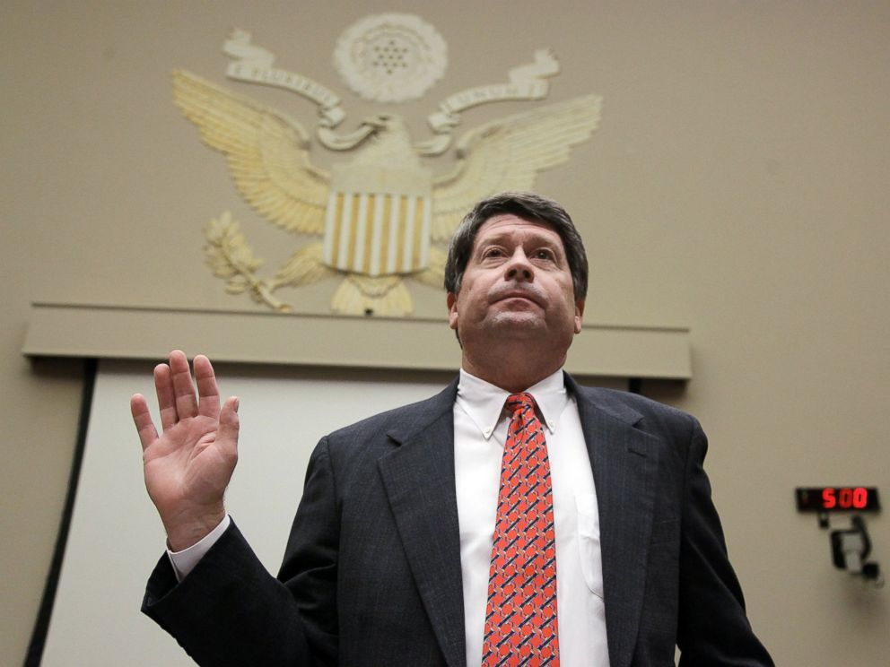 PHOTO: Stewart Parnell, is seen in this file photo, Feb. 11, 2009, during a House Energy and Commerce Committee hearing on Capitol Hill in Washington.
