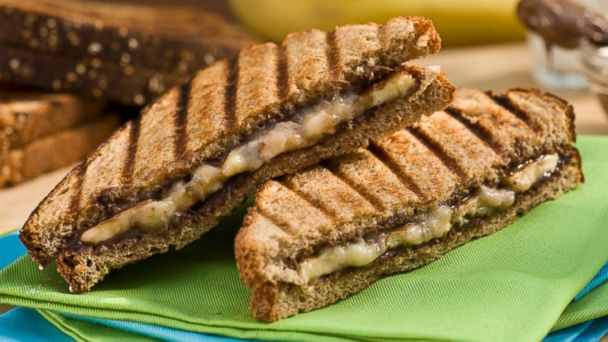 PHOTO: Image of a grilled banana and Nutella panini.