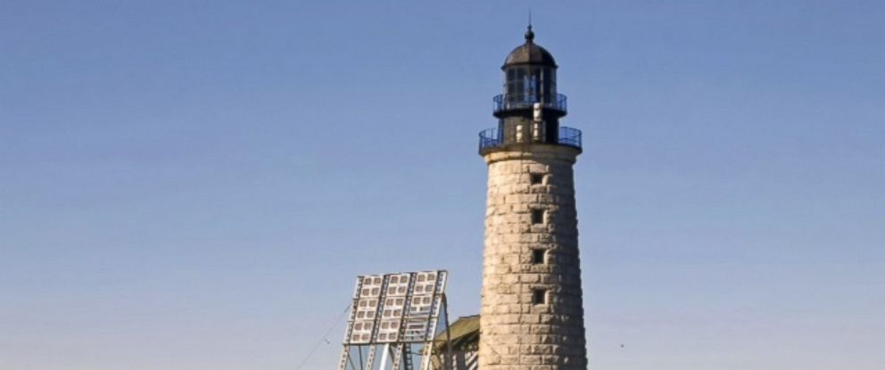 PHOTO: Halfway Rock Light Station is located offshore on a shallow, two-acre rock ledge in Casco Bay off Bailey Island in Cumberland County, Maine.