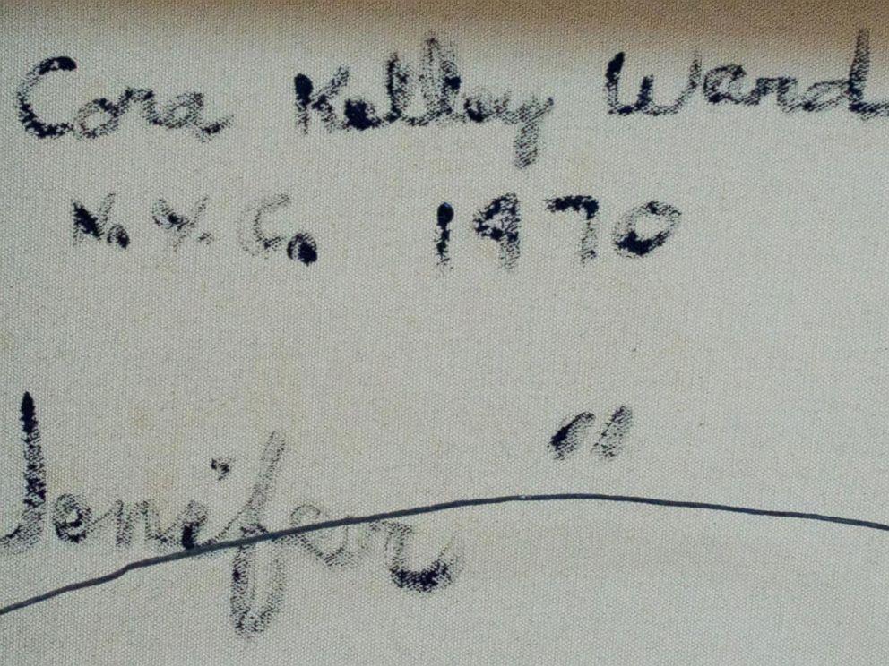 PHOTO: Artists handwritten dedications to Jenifer Gordon (Walker) on their work.