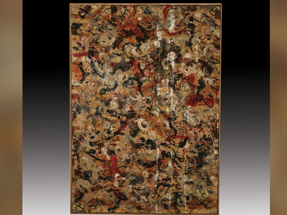 PHOTO: This painting, believed to be an original Jackson Pollock, may be worth $15 million.
