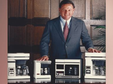PHOTO:In this undated file photo, Vincent Marotta is seen with different versions of the Mr.Coffee machine.