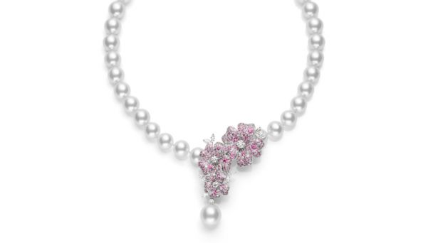 PHOTO: The Cherry Blossom Necklace is priced at $160,000.
