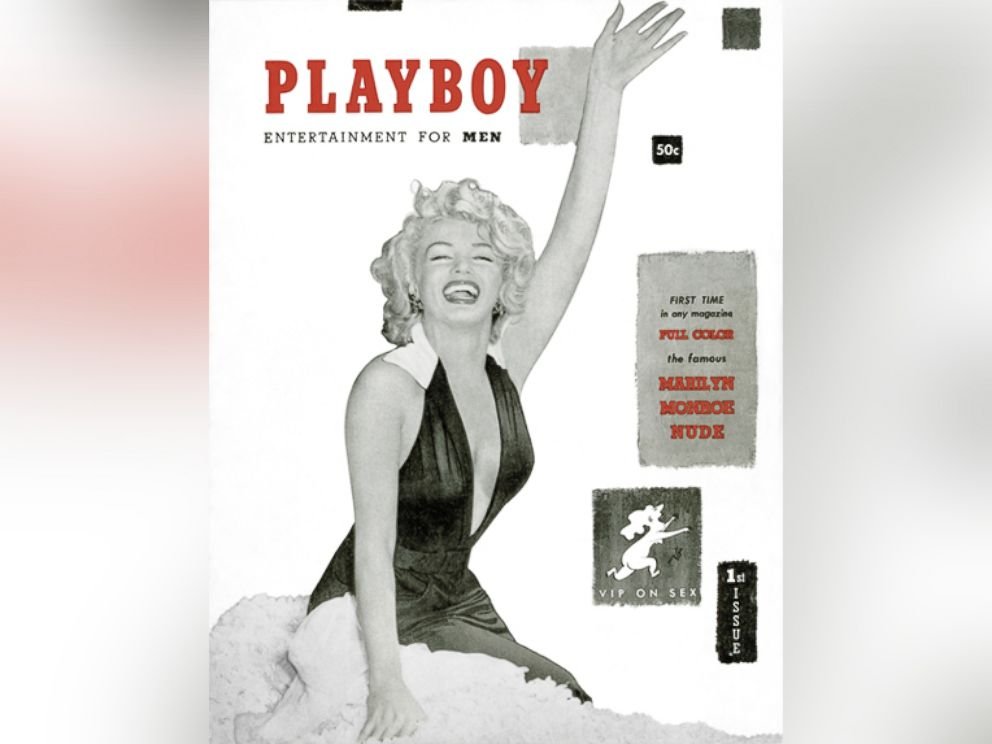 PHOTO: The very first Playboy issue was published in December 1953 with Marilyn Monroe on the cover.