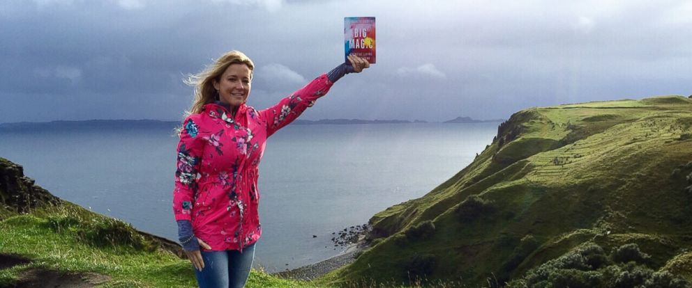 "PHOTO: Amanda Taylor seen with Elizabeth Gilberts new book ""Big Magic"" in this undated photo."