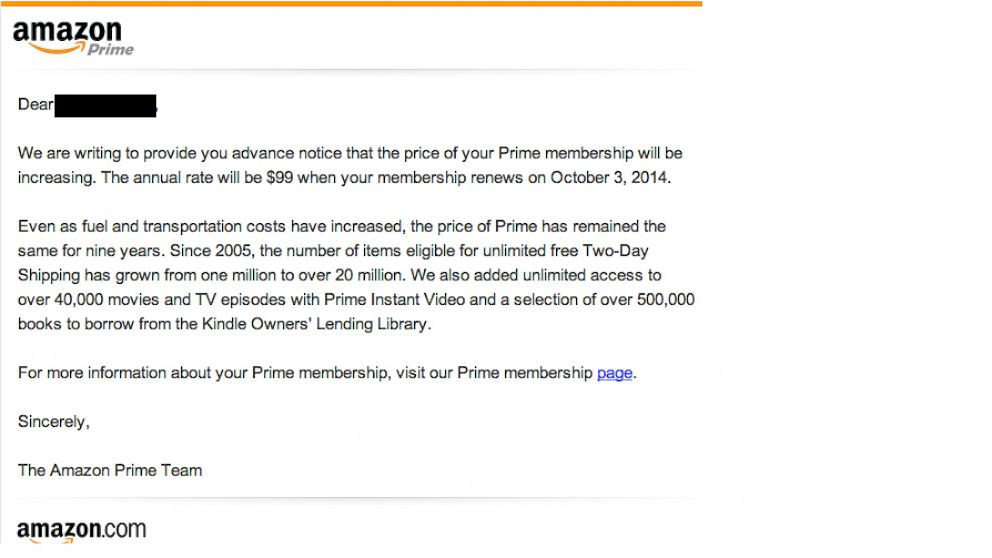 Amazon Cites Fuel, Transportation Costs for Prime ...