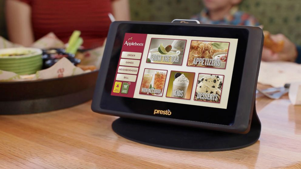 Will Applebees Table Tablets Spoil Family Dinners ABC News - Restaurant table ordering system