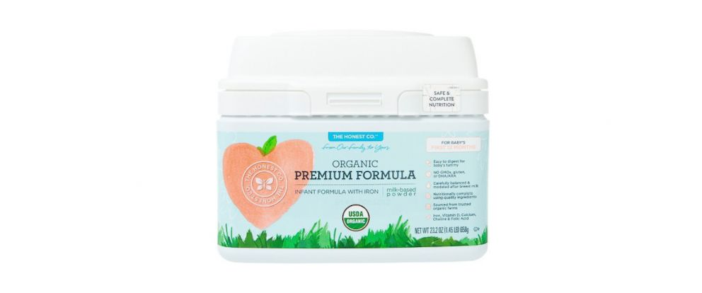 "PHOTO: A lawsuit brought by the Organic Consumers Association against The Honest Company alleges that the company is falsely representing its Premium Infant Formula as ""organic."""