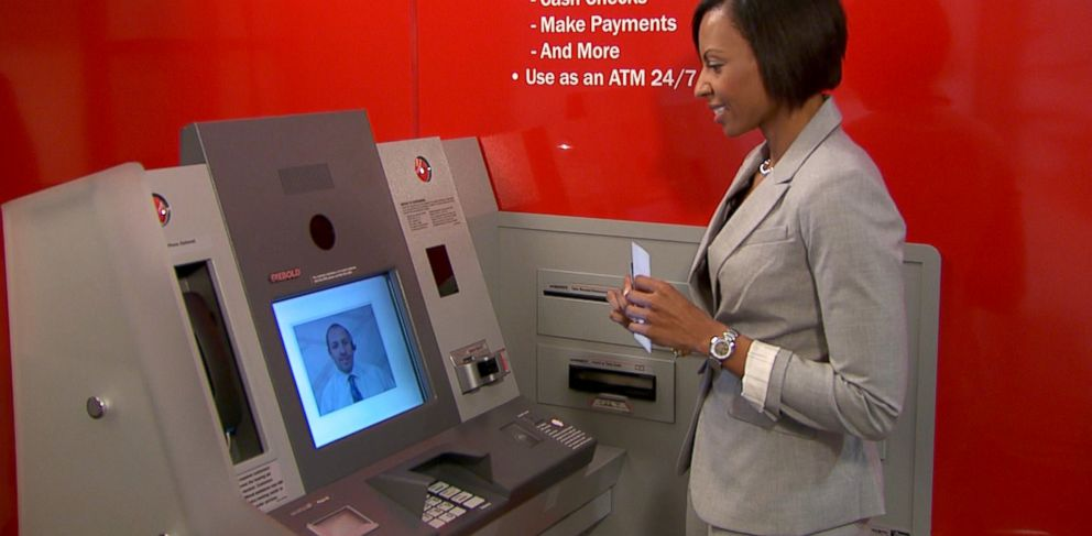 """PHOTO: Bank of America is testing 150 """"ATMs with Teller Assist"""" in 61 locations in the country."""