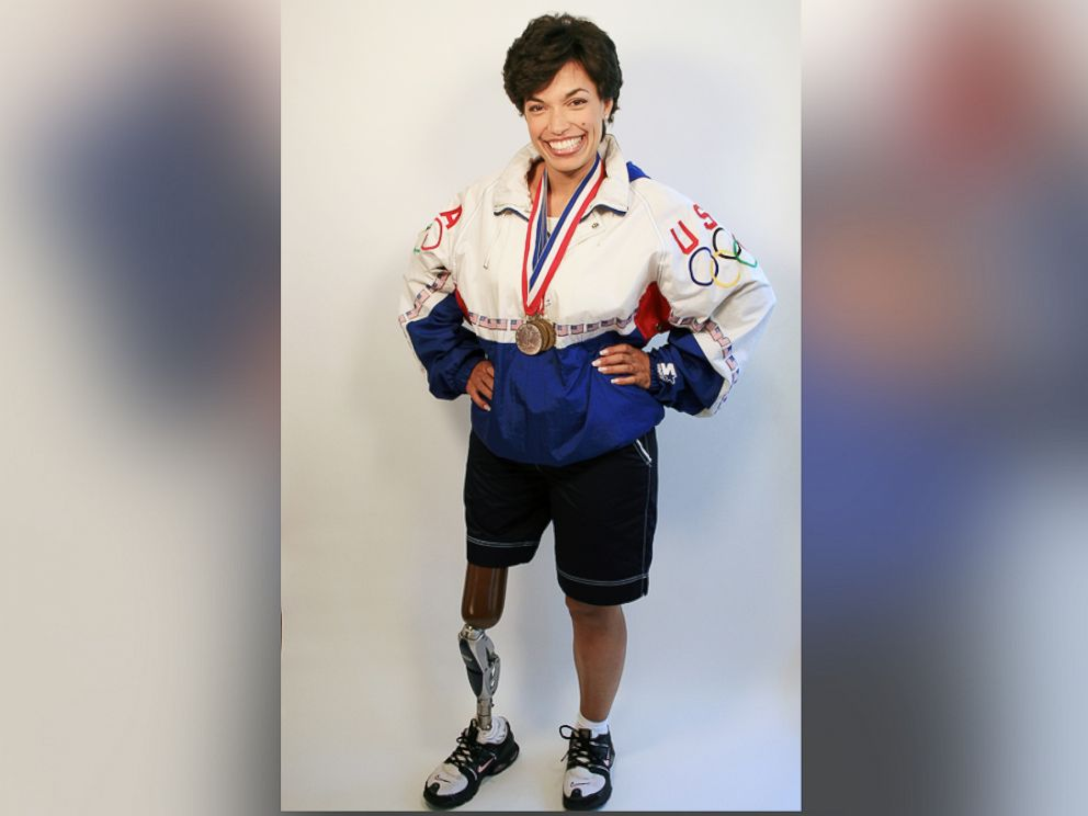 PHOTO: Bonnie St. John seen with her Olympic medals.