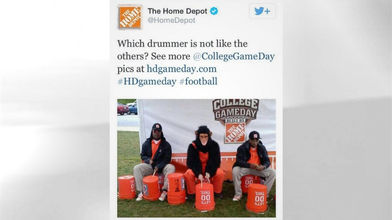 Home Depot Apologizes For Racist Tweet Abc News