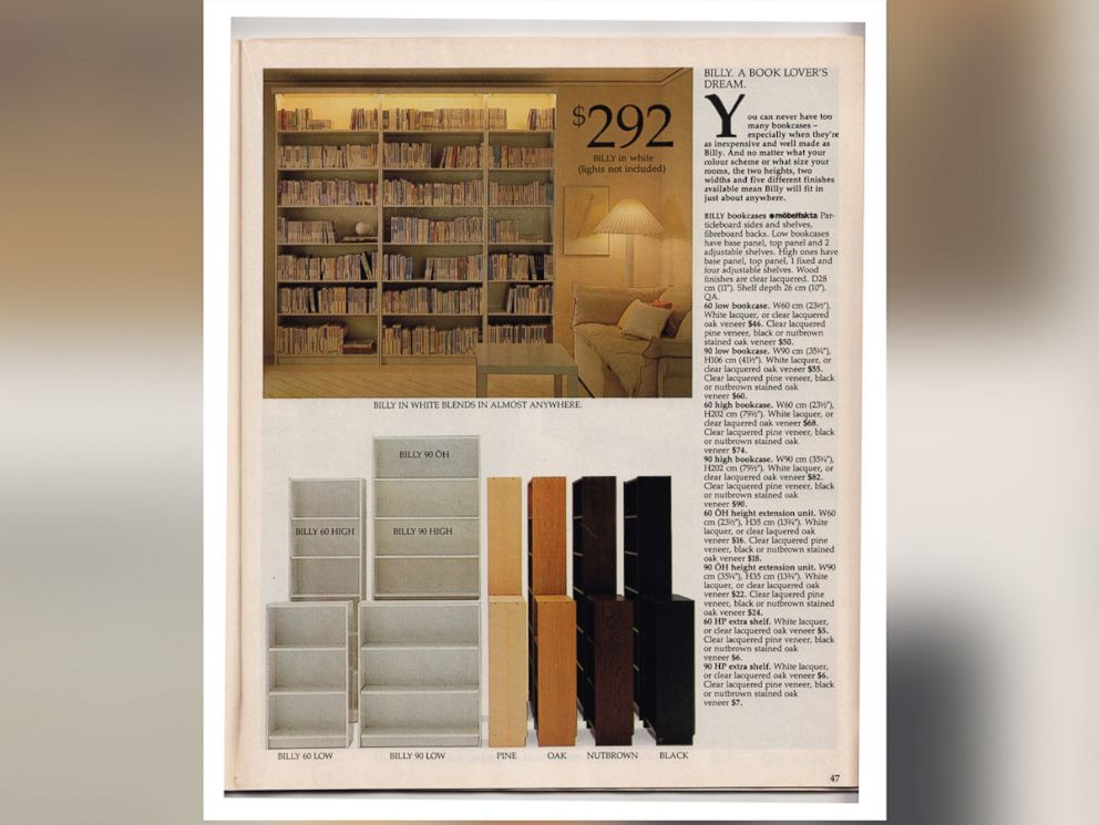 PHOTO: Ikeas BILLY bookcase is now $59.99. Ikea celebrates its 30th birthday in the U.S., June 12, 2015.