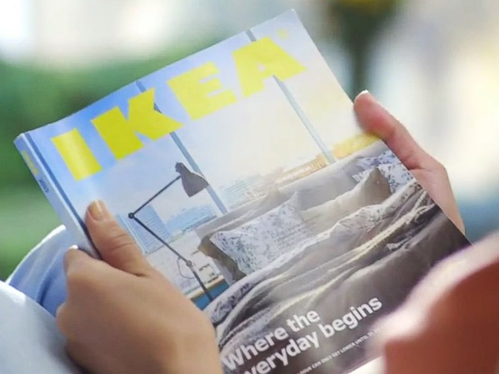 funny ikea commercial for 2015 catalog mocks apple video abc news. Black Bedroom Furniture Sets. Home Design Ideas