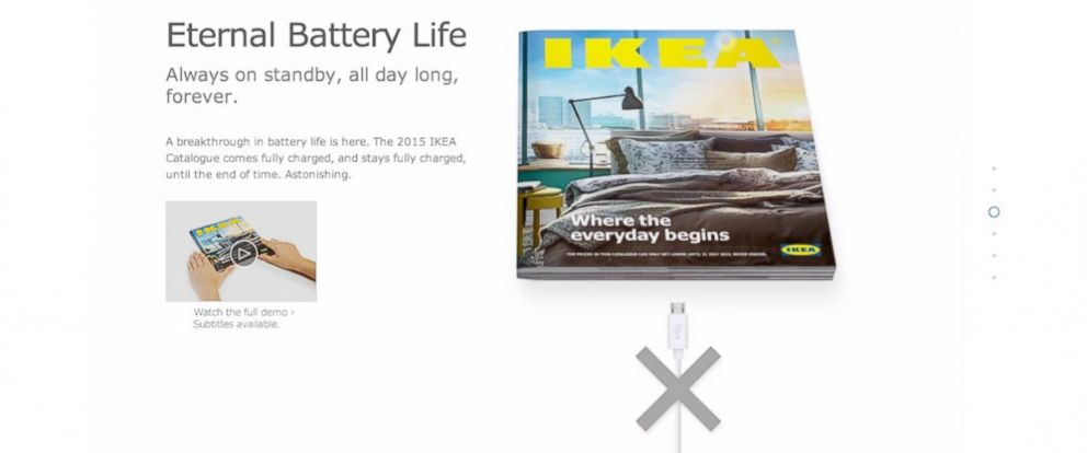 PHOTO: A screen grab of the video promoting the 2015 IKEA catalog.
