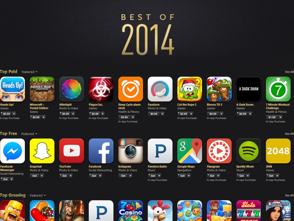 PHOTO: The top apps of 2014.