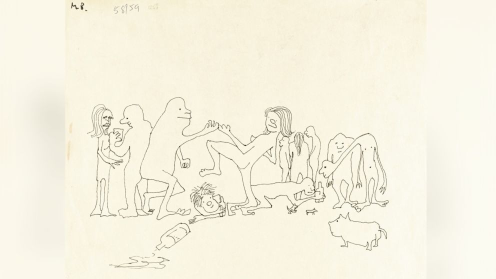 Love Me Do Odle John Lennon S Drawings To Be Auctioned Off Abc News