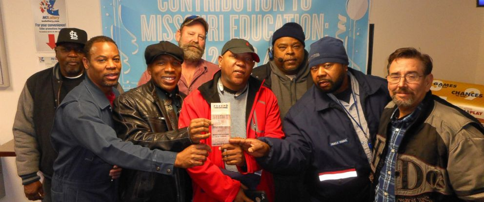 PHOTO: A group of eight U.S. Postal Service employees in Missouri have come forward to claim a $1 million Powerball Match 5 prize.