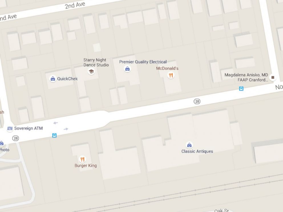PHOTO:A map showing Burger King and Mcdonalds across from each other on North Avenue in Garwood, N.J.