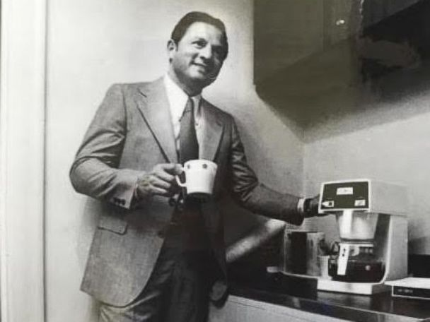 PHOTO: In this file photo, Vincent Marotta is seen in this photo next to a Mr.Coffee machine, 1978.