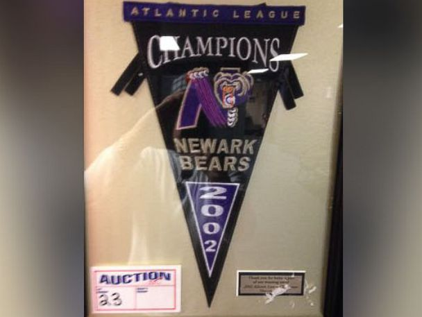 PHOTO: The Newark Bears 2002 Championship Pennant, included in the teams liquidation sale.