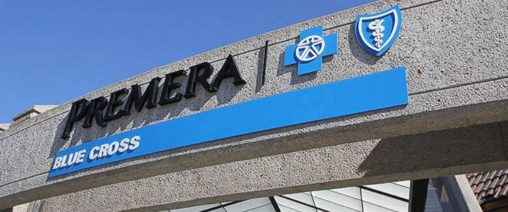 PHOTO: The Premera Blue Cross entrance is seen in this file photo.