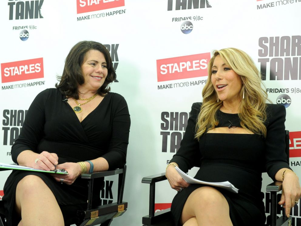 PHOTO: Shark Tanks Lori Greiner, right, and Staples Alison Corcoran discuss innovation and how to launch a product at a small business panel hosted by Staples, April 7, 2015, in New York.