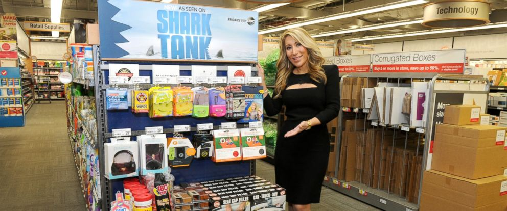 PHOTO: Shark Tanks Lori Greiner joins Staples to announce that Shark Tank products created by entrepreneurs featured on the show are now available in stores and on Staples.com, April 7, 2015, in New York.