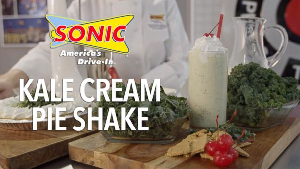 "PHOTO: Sonic celebrated April Fools Day by introducing a ""Kale Cream Pie Shake."""