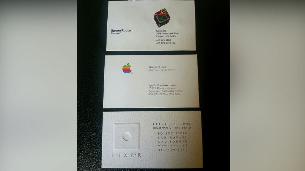 Steve Jobs\' Business Cards From His Apple Days Sell for Over ...