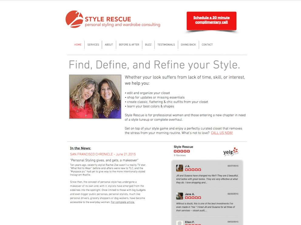 PHOTO: Personal stylists Jill Sperber and Susana Perczek run Style Rescue in northern California.