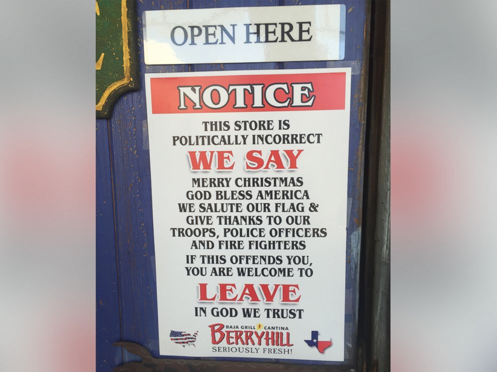 PHOTO A Chain Of Restaurants Recently Posted This Notice To Its Doors Warning Customers That