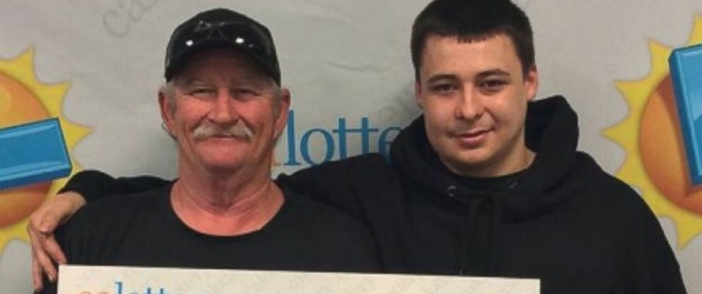 PHOTO: Timothy McDaniel, 55, left, a truck driver from Marysville, won the lottery a day after his wife died from a heart attack.