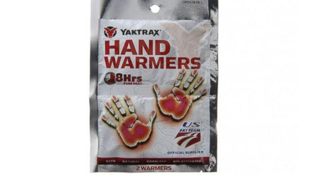 PHOTO: YakTrax hand warmers are shown.