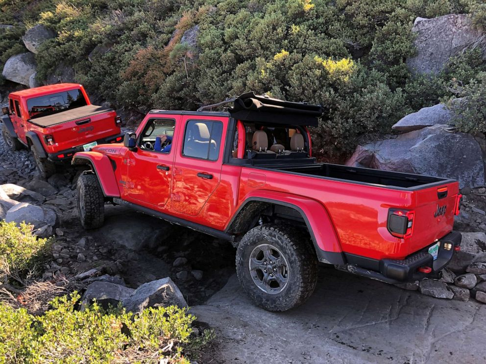 PHOTO: The Jeep Gladiator is a midsize pickup based on the Wrangler four-door SUV.