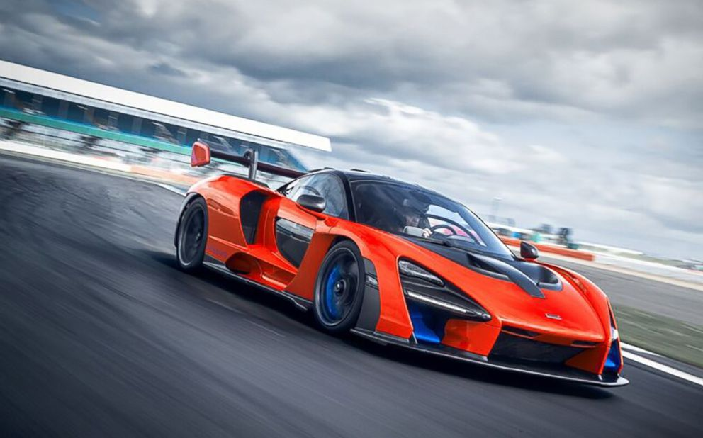PHOTO: The McLaren Senna, with a twin-turbo V8 engine, hits 0-62 mph in 2.8 seconds.