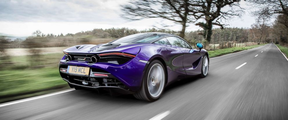 PHOTO: The 4.0-liter twin-turbo V8 engine in the McLaren 720S gives the supercar its aggressive burble.