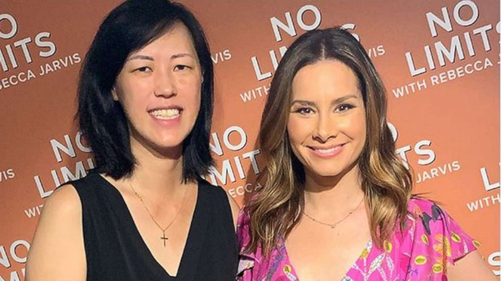"PHOTO: ABC News Rebecca Jarvis with Founder of Facebook Marketplace Deb Liu for ""No Limits with Rebecca Jarvis"" podcast"