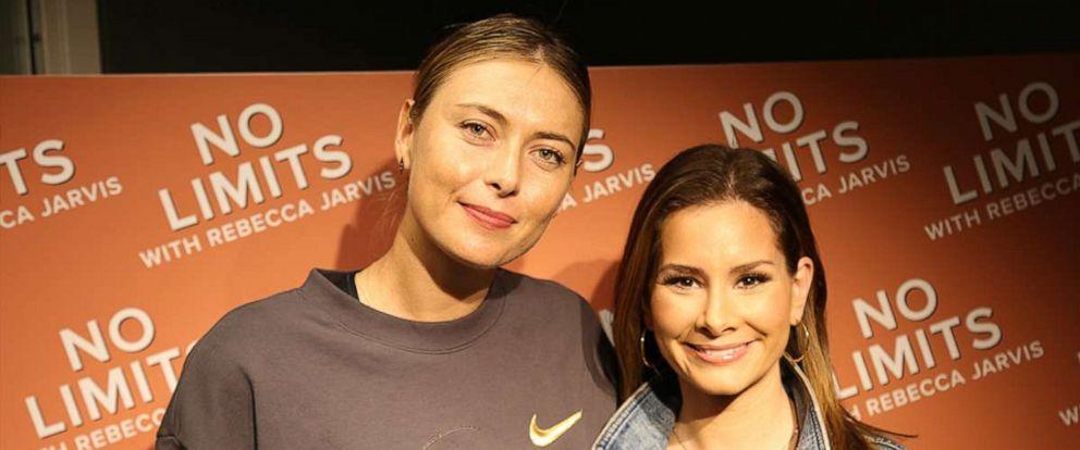 PHOTO: ABC News Rebecca Jarvis with tennis champion & CEO of Sugarpova Maria Sharapova