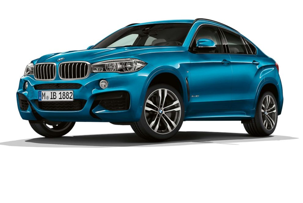 The BMW X6 M is seen here.