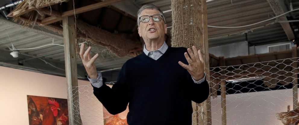 PHOTO: Billionaire philanthropist and Microsofts co-founder Bill Gates